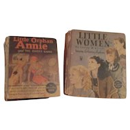 2 Original Little Golden Books: Little Orphan Annie and Little Women