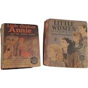 2 Original Little Golden Books: Little Orphan Annie and Little Women