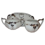Art Deco China Sugar and Creamer Set