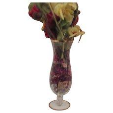 Old Crystal Glass Vase