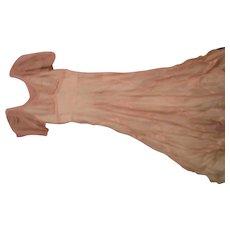 Ladies 1930's Pink Organdie Party Dress