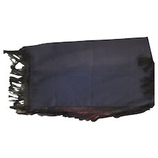 Old Table Cloth Runner or Coverlet