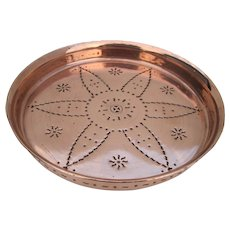 Oriental Red copper wall hanging plate or tray