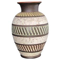 AKRU Klinker - Large mid-century Vintage German vase  in african decor