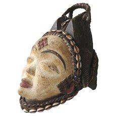 Punu Gabon - Vintage african wooden mask -