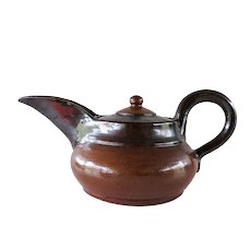 Marcellus Aubry - signed 1940s 1950  earthenware teapot