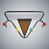 Roger Feraud - French Mid century Mirror, Coat and hat rack - Atomic Ball