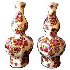 Boch Freres Belgium - Keralux Pair of double gourd vases