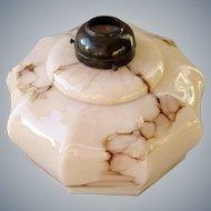 Art deco marbled Opaline glass lamp shade
