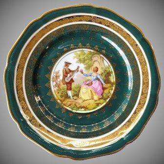 DW Karlsbad porcelain plate - decor Vieux Rembrandt