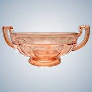 Val St Lambert VSL - PAIR  2  Art deco bowls Noémie - 1930s Belgium