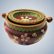 Gorgeous chinese Cloisonne Ashtray - 2 Pieces enamel work