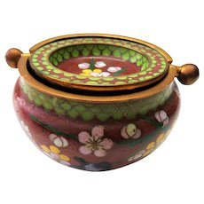 Gorgeous chinese Cloisonne Ashtray - 2 Pieces enamel work