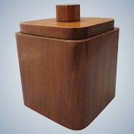 1930s Art Deco Wooden box with lid / tobacco pot