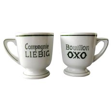 Liebig Companie - Oxo Bouillon - couple of vintage porcelain mugs