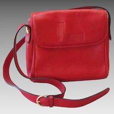 Lancel - Vintage French red leather handbag / shoulder bag