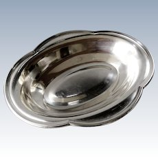 D.S French silver plated serving bowl / dish - ca 1930s