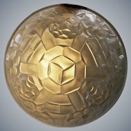 Degue - French Art Deco clear satin glass Dome Lamp shade for pendant chandelier - France, late 1920s