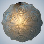 Degue - French Art Deco blue glass Lamp shade for pendant chandelier - France, late 1920s