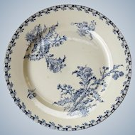 Gien France - Antique cake and pastry dish -  Chardon Thistle ceramic serving tray
