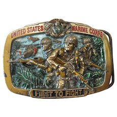 Great American Buckle Company - 1982 United States Marine Corps Belt Buckle