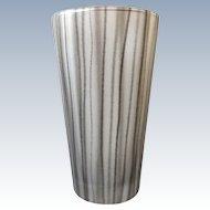 "Ingegerd Raman for Orrefors - Handpainted crystal vase "" Straw Black """