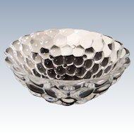 """Anne Nilsson for Orrefors Glassworks - Crystal bowl """" Raspberry  """""""