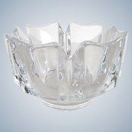 Orrefors Sweden - Design Lars Hellsten - Corona crystal bowl
