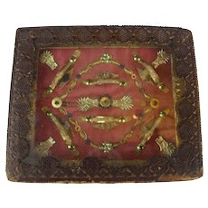 18th Century French Antique Reliquary, Multiple Relics Saints, Martyrs