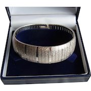 Vintage Sterling Silver Flexible Bracelet Signed BB Made In Italy