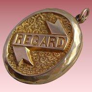 Antique Victorian 9ct Gold Back & Front REGARD Locket