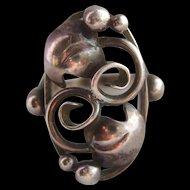 Vintage Sterling Silver Scandinavian Designer Ring Signed John Lauritzen Denmark