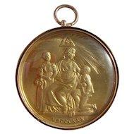 9ct Gold 1935 George Kenning & Son Royal Masonic Benevolance Medallion Pendant