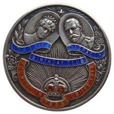 1935 George V Silver Jubilee Sterling Silver Daily Dispatch Birthday Club Brooch