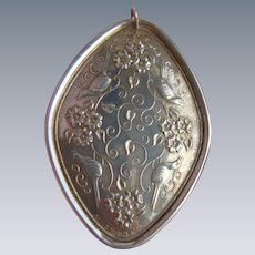 1974 Towle Sterling Silver Medallion Pendant 12 Days of Xmas 4 Calling Birds