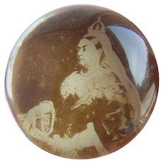 Antique Queen Victoria Glass Paperweight c1862