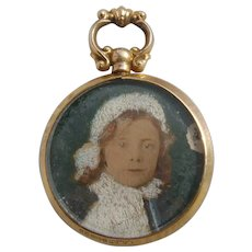 Edwardian 9K Carat Gold Double Photo Pendant Locket H/M 1909
