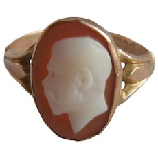 Rare 9K Carat Gold George V Royal Cameo Ring H/M Chester 1917
