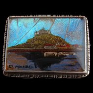 Art Deco Sterling SILVER Butterfly Wing Brooch St Michaels Mount CORNWALL
