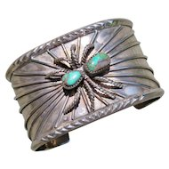 Vintage Native American Turquoise Spider Cuff