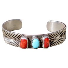 Vintage Native American Signed Cuff