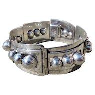Vintage Taxco Sterling Panel Bracelet