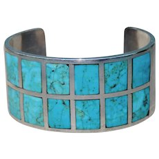 Vintage Native American Turquoise and Silver Bracelet