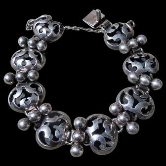 Vintage Taxco Victoria Sterling Link Bracelet