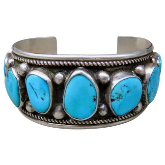 Vintage Turquoise Cuff William Singer