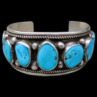 Vintage Turquoise Cuff William Singer