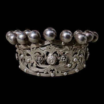 Vintage Peruzzi 800 Silver Crown Cuff