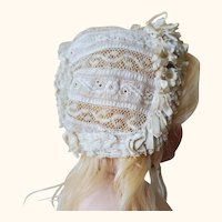 Beautiful antique french Bébé bonnet