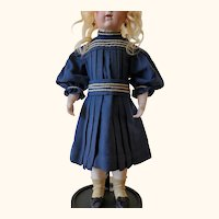 Antique original French Bébé doll sailor dress
