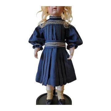 Antique original French Bébé doll sailor dress